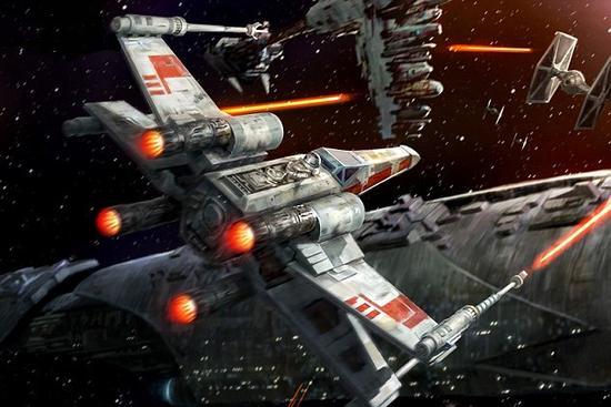 """马斯克在推特中表示:""""栅格翼在上升阶段是收起的,而在重返大气层时则展开X型翼板进行姿态控制,每一个翼面都可以独立各种角度的调整。""""在电影《星球大战》中出现的X翼面型飞船显示出极高的灵活性,从而得以让卢克天行者等人得以有机会击败强大的帝国军团敌人"""